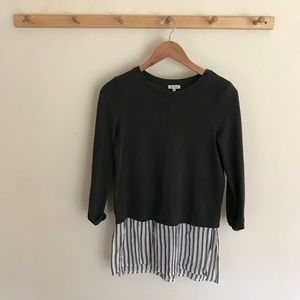 River Island Top Blouse Top 3/4 Sleeve Knit UK